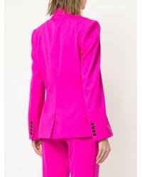 Oscar de la Renta - Pink Stretch-wool Gabardine Blazer - Lyst