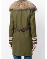 Bazar Deluxe - Green Double Breasted Coat - Lyst