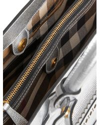 Burberry - Metallic Medium Banner Tote - Lyst