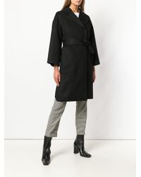 Theory - Black Cocoon Coat - Lyst
