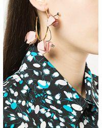 Marni - Multicolor Tulip Hoop Earrings - Lyst
