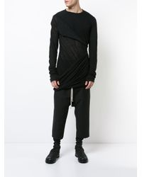 Rick Owens - Black Drawstring Drop-crotch Trousers for Men - Lyst