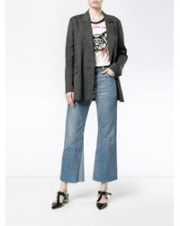 Golden Goose Deluxe Brand - Gray Check Double Breasted Blazer - Lyst
