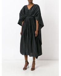 KENZO - Black Caped Dress - Lyst