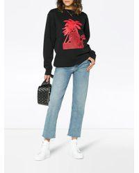 Palm Angels - Black Long Sleeve Palm Motif Sweatshirt - Lyst