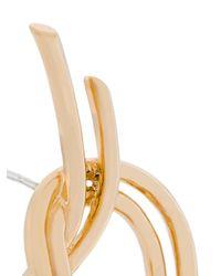 Eshvi - Metallic Statement Knot Earrings - Lyst