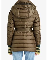 Burberry - Gray Puffer Hooded Jacket - Lyst