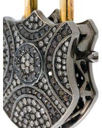 Gemco | Metallic Diamond Padlock Pendant | Lyst