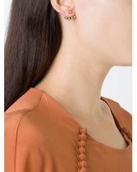 Yvonne Léon - Metallic 4 Petit Gold Pearls Ear Jacket - Lyst