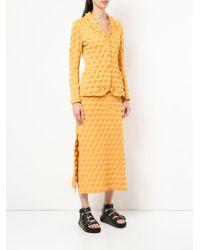 Рельефный Костюм С Юбкой Issey Miyake Pre-Owned, цвет: Yellow