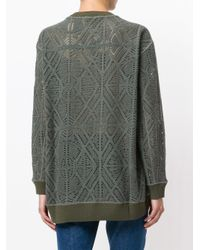 See By Chloé - Green Pointelle Oversized Sweater - Lyst