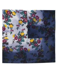 Golden Goose Deluxe Brand - Blue Floral Embroidered Scarf - Lyst