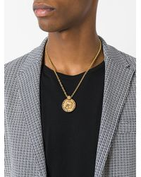 Versace - Metallic Medusa Necklace for Men - Lyst