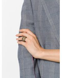 Givenchy - Multicolor Face Upper Head Ring - Lyst