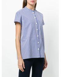 Joseph - Blue Striped Shortsleeved Shirt - Lyst