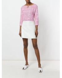 Majestic Filatures - White Striped T-shirt - Lyst