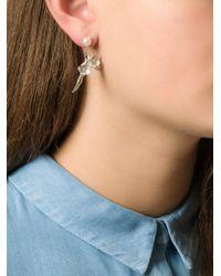 Shaun Leane - White 'cherry Blossom' Diamond Earrings - Lyst