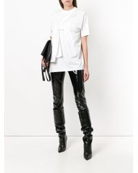 Y. Project - White Tied Front T-shirt - Lyst