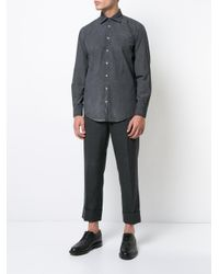 Massimo Alba - Black Classic Checked Shirt for Men - Lyst