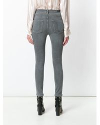 Citizens of Humanity - Gray Rocket Crop Skinny Jeans - Lyst