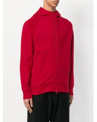Y-3 - Red Zip-up Hoodie for Men - Lyst