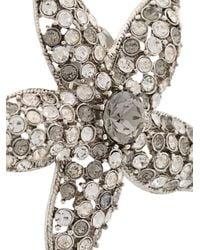 Oscar de la Renta - Metallic Crystal Embellished Starfish Earrings - Lyst