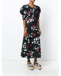 Isa Arfen Black Wow Blossom Print Dress