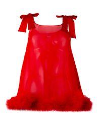 Gilda & Pearl - Red Diana Bow Babydoll - Lyst