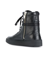 Newams - Black Hi-top Lace Up Sneakers for Men - Lyst