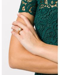 Chloé - White Pearl Cocktail Ring - Lyst