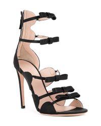 Giambattista Valli - Black Bow Detailed Sandals - Lyst