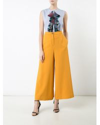 TOME - White Wide-legged Trousers - Lyst