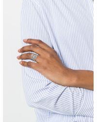 Aurelie Bidermann - Metallic 18kt White Gold Vintage Lace Diamond Ring - Lyst