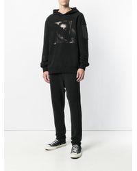 RH45 - Black Long Sleeved Printed Hoodie for Men - Lyst