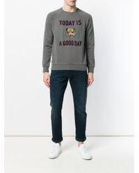 Sun 68 Gray Tiger Printed Sweatshirt for men