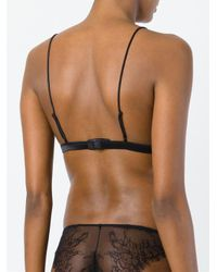 Maison Close - Black 'villa Satine' Triangle Bra - Lyst