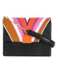 Emilio Pucci - Black Printed Shoulder Bag - Lyst