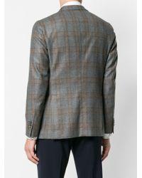 Boglioli - Gray Checked Button Blazer for Men - Lyst