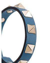 Valentino - Gray Garavani Rockstud Bracelet - Lyst