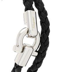 Ferragamo - Black Double Wrap Gancini Hook Bracelet - Lyst