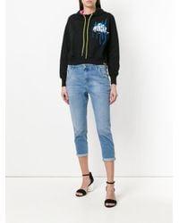 DIESEL - Blue Cropped Mid-rise Skinny Jeans - Lyst