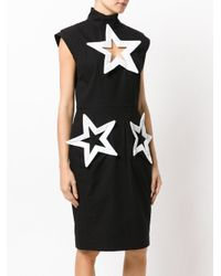 KTZ - Black Star Cut-detail Dress - Lyst