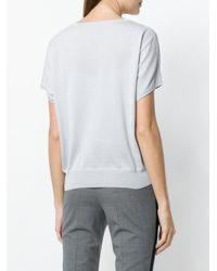 Jean Paul Knott - Gray Shortsleeved Sweater - Lyst