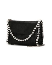 Stella McCartney - Metallic Crystal-emebellished Falabella Shoulder Bag - Lyst