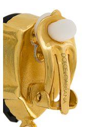 Dolce & Gabbana - Black Stud-drop Earrings - Lyst