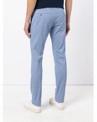 Incotex | Blue Slim Fit Trousers for Men | Lyst