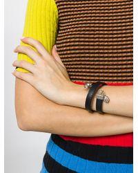Versus  - Black Lion Head Wrap Bracelet - Lyst