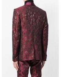 Christian Pellizzari - Red Metallic Patterned Suit Jacket for Men - Lyst