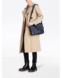 Burberry - Black Medium London Check Messenger Bag for Men - Lyst
