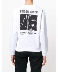 McQ Alexander McQueen - White Poison Youth Tour Date Jumper - Lyst